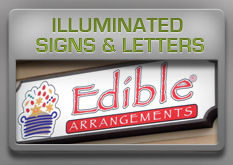 illuminated signs and letters