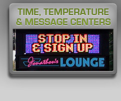 time temp and message centers